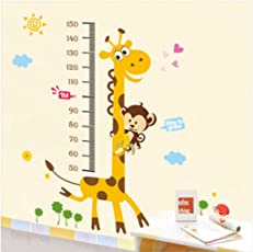 Decals Design 'Kids Giraffe Height Chart' Wall Sticker (PVC Vinyl, 50 cm x 70 cm),Multicolour