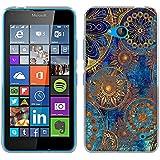 Funda Nokia Microsoft Lumia 640, Fubaoda [cerchio Mandala] Carcasa [Ultra Hybrid] Tecnología de amortiguación de aire y protección híbrida contra caídas para Nokia Microsoft Lumia 640