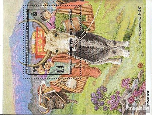 Prophila Collection Mongolei Block281 (kompl.Ausg.) 1998 Yaks (Briefmarken für Sammler) Säuger Sonstige