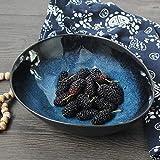 YINUO Große Kapazität Obstsalat Schüssel Suppe Ramen Nudelschale Kreative Keramik Geschirr Rührschüssel Servierschale 8 Zoll Blau Oval