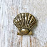 #9: Casa Decor Handmade Decorative Unique Sea Shell Patterns Antique Look Brass Finish Door Knocker - Door Decor