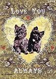 Love you Always Hunde Grußkarte von Mimi