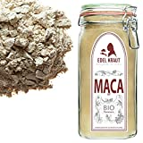 EDEL KRAUT | BIO ROTES MACA PULVER Premium Superfood 100% MACAWURZEL ROT IM GLAS 750g