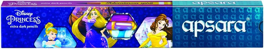 Apsara Disney Princess Extra Dark Pencils - Pack of 10