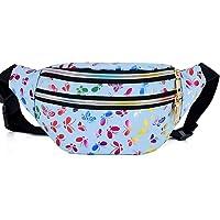 Estwell Gürteltasche Damen Bauchtasche Mode Hüfttasche Wasserdicht PU Leder Handytasche Verstellbarer Sports Tasche…