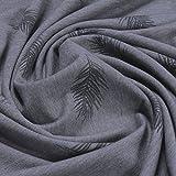 Stoff Baumwolle Polyester Elastan Single Jersey dunkelgrau