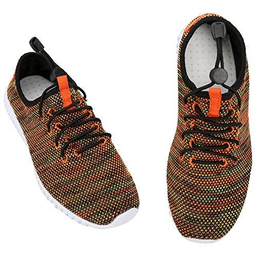 Alexis Leroy Chaussures de Running Course Empeigne en respirante et légère femme Orange