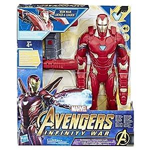 Hasbro Marvel Avengers-Infinity War Iron Man Mission Tech Titan Hero con Accesorio, diseño, Action Figure, e0560103