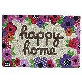 Dcasa - Felpudo Happy Home Fibra de Coco 60 x 40 x 1,50 cm