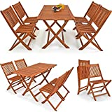 Wooden Garden Furniture Dining Set Sydney Light- Outdoor Living Patio Table and Chairs Set - Robust Balcony 4 Seater