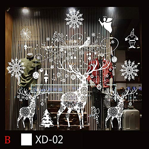 ufkleber wasserdicht Weihnachtsbaum Ornamente Schneeflocke Weihnachten Aufkleber in Stationery Sticker-5 ()