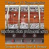 Jeu de Cordes Complet pour Sitar Indien. 7+11 Cordes Principales + Cordes Résonantes. Acier allemand Roslau et bronze