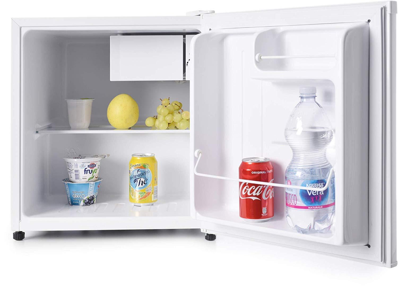 Melchioni ARTIC47LT Mini frigo bar con congelatore, A+, Silenzioso, 47L,  Compressore e freezer, Frigorifero piccolo portatile da camera, ufficio,  B&B, ...