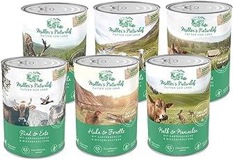 Müllers Naturhof | Nassfutter für alle Hunderassen | getreidefrei und glutenfrei | mit Gartengemüse und Wiesenkräutern | naturnahe Rezeptur mit 65% Fleisch und Fisch