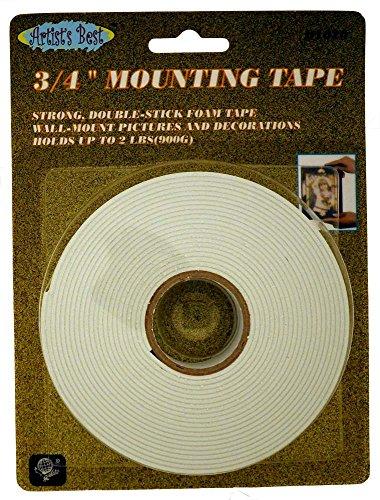3/10,2 x 500,4 cm Rouleau de ruban double face de montage avec capacité de 0,9 kilogram pour suspendre des photos