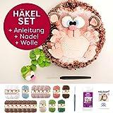 Amigurumi Häkel-Set Igel: Anleitung + Häkelnadel + Füllwatte + Häkelgarn