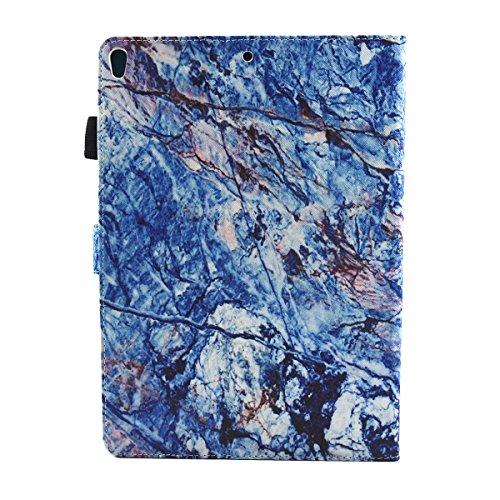 iPad IPad pro 10.5 Custodia per IPAD iPad pro 10.5 inch, inShang Smart Cover case in pelle PU, supporto per tenere L'iPad sollevato, magnetico per sleep e standby zebra blue