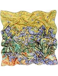 Prettystern - 90cm foulard de soie pure soie Impressionnisme Art Print  peinture tissu - van Gogh cc6a7f37686