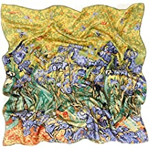 c7be0f17f206 Prettystern - 90cm foulard de soie pure soie Impressionnisme Art Print  peinture tissu - van Gogh