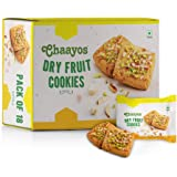 Chaayos Chai Time Snacks - Premium Dry Fruit Cookies | Filled with Cashew Almond Pistachio | 450g (18 Packs)
