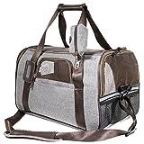 SCM PETS Fluggesellschaft zugelassen Weichen Faltbox, Hand Tragen tragbar Tasche Home für Kleine Hunde, Katzen und Welpen (Multi-Grey, 44x 25x 28cm)