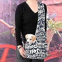 Durable English letters printed Oxford cloth Single-Shoulder Sling Bag PET Dog Cat Carrier Bag - SIZE L