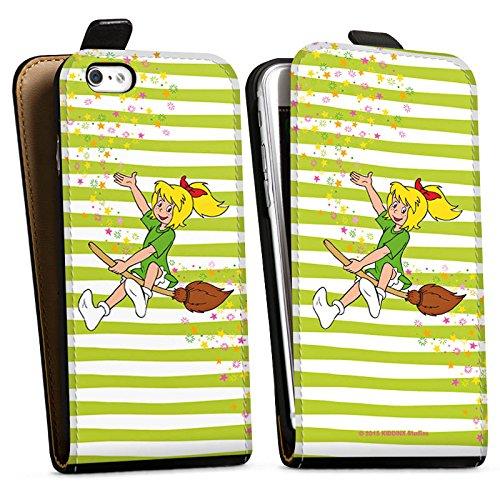 Apple iPhone X Silikon Hülle Case Schutzhülle Bibi Blocksberg Fanartikel Merchandise Bibi und Kartoffelbrei Downflip Tasche schwarz