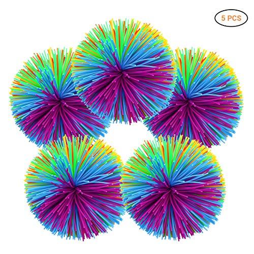 Surenhap 5pcs Sports Funball Ball eliminación de irritabilidad/descompresión/Terapia/Juguetes sensoriales, 7cm