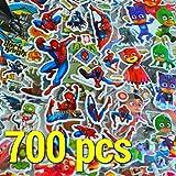 KingMungo 700+ Aufkleber! 40 Sheets 3D Superheroes Kinder Stickers Superhelden: Paw Patrol, Spiderman, Batman, Superman KMST005