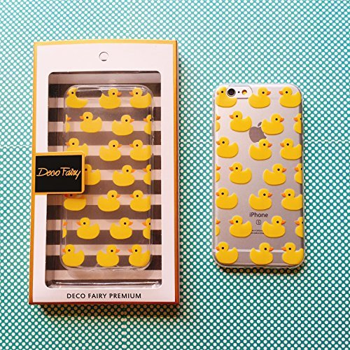 el, Bunt, Gummi Flexible Silikon Tasche Bumper für Apple Transparent Cover-Gelb Rubber Duck Überlast ()