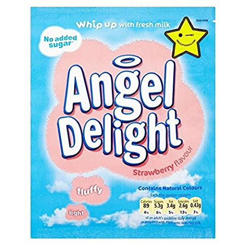 Angel Delight No Added Sugar Strawberry (47g) - Pack of 6