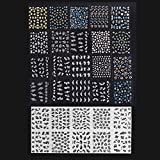 Anself Arte del clavo 3D mezcla Color diseño Floral de la hoja 30 pegatinas de calcomanías manicura hermosa moda accesorios decoración