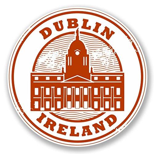 Preisvergleich Produktbild 2x Dublin Irland Vinyl Aufkleber Aufkleber Laptop Reise Gepäck Auto Ipad Schild Fun # 4449 - 10cm/100mm Wide