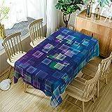 GuDoQi Tischdecke Ghosting Muster Rechteck Tischdecke Tischdecken aus Polyestergewebe für Küche und Esstisch Dekoration