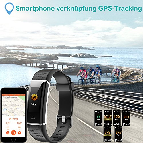 YAMAY Fitness Armband,Wasserdicht IP68 Fitness Tracker mit Pulsmesser 0,96 Zoll Farbbildschirm Aktivitätstracker Fitness Uhr Smartwatch,Pulsuhren,Schrittzähler Uhr,Smart Watch für Damen Herren - 6