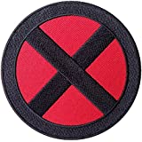 "X-Men Storm Red - Black Cross ""X"" Logo Movie Patch Iron On Parche Bordado Termoadhesivo Película X-Men Logo"