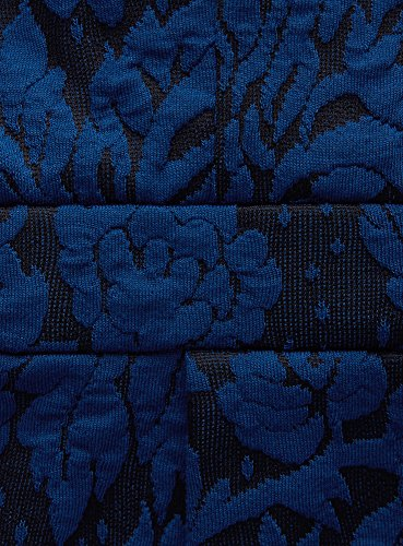 oodji Ultra Femme Robe Texturée Coupe Ajustée Bleu (2975F)