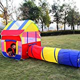 #3: PIGLOO® Pop up Playhouse Tent Crawl Tunnel for Boys, Girls, Kids — Foldable Tent with Portable Carry Bag