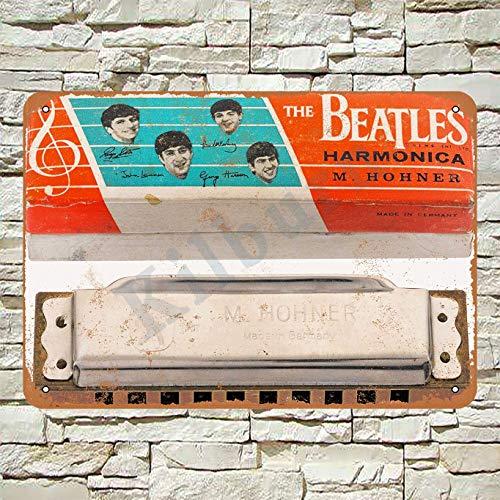 Kilburn 1964 The Beatles Harmonika Retro Kreative Wanddekoration Persönlichkeit Trend Hintergrund Einfache Stil Eisen Gemälde