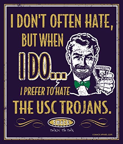 Smack Apparel Notre Dame Fighting Irish Fans. I Prefer to Hate The SoCal Trojans. Metallschild, 30,5 x 35,6 cm -