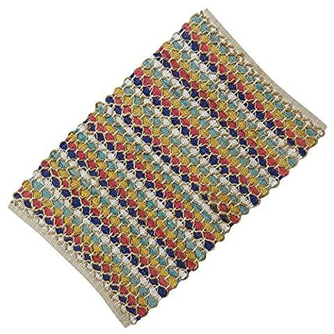 "Coton Jute Recyclé Rag Striped Floor Runner Rug Dari Main Tissé Carpettes 39 ""x 23"" Pouces"