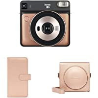 Fujifilm Instax SQ 6 EX D Sofortbildkamera, Blush Gold + Instax SQ 6 Album Blush Gold + Instax SQ 6 Tasche Blush Gold