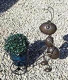 """Wunderschöne Gartenfigur Ameise """"Berta"""" mit Pflanztopf, Metall in braun, GD149"""