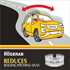 ROGER Rogerab for Reducing Rolling-Pitching, Increasing Cornering Stability and Suspension Height, Car Suspension, TPU Buffer (Pack of 4)