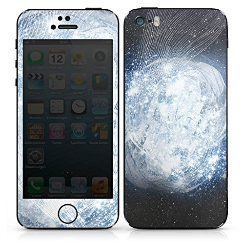 Apple iPhone SE Case Skin Sticker aus Vinyl-Folie Aufkleber Universum Galaxie Dimension DesignSkins® glänzend