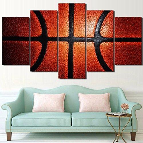 Incluye marco 5 pieza enmarcada impresa HD juego de baloncesto Gimnasio Casa moderna decoración mural Poster lienzo pintura Arte Deportes cuadros de pared,Tamaño 2
