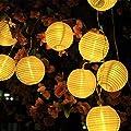 SunJas Solar Lichterkette 20 LEDs 4,8 Meter / 30 LEDs 6 Meter Lampions Laterne wasserfest Lichterkette Garten Innen- und Außenbereich warmweiß kaltweiß blau bunt für Party Weihnachten Outdoor Fest Deko usw. von SunJas