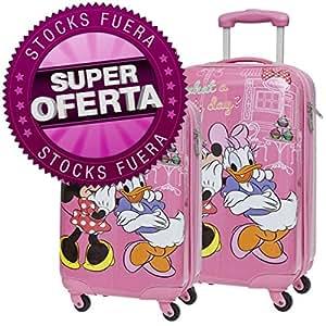 Set 2 maletas trolleys Minnie Daisy Disney Lovely ABS 55/68cm 4r