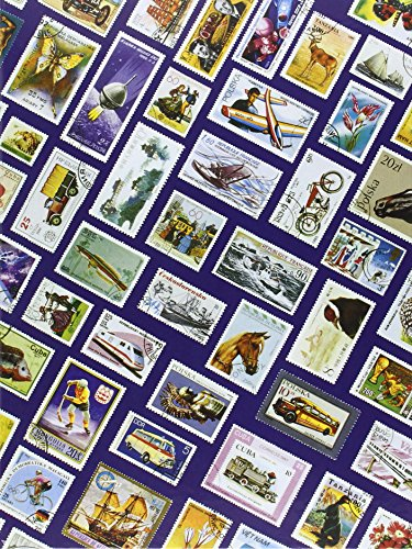 Briefmarken Einsteckbuch HOBBY, 16 weiße Seiten, Einband mit Breifmarkenmotiven, DIN A 4 Test
