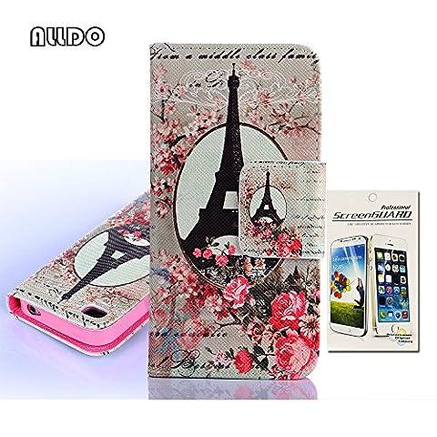 AllDo Housse Protection pour iPhone 4/4S Etui à rabat en